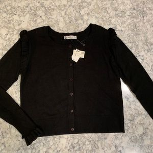 NEW Zara Button Down Sweater Medium